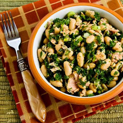 White Bean Salad Recipe  with Tuna and Parsley (Dairy-Free, Gluten-Free) found on KalynsKitchen.com