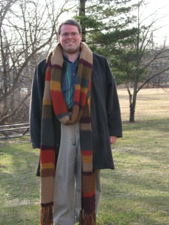 scarf. I got the pattern off the internet of course! Dr. Who Scarf