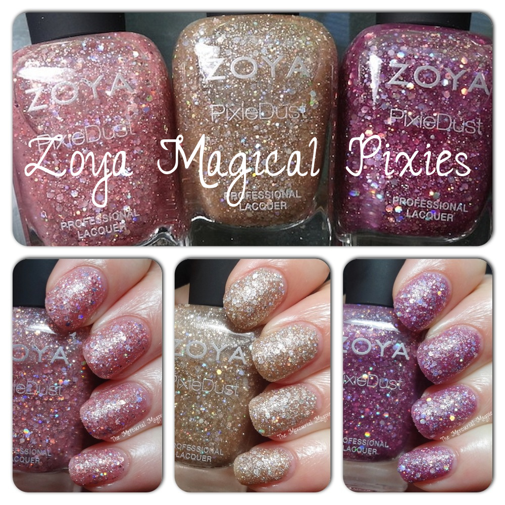 Zoya Magical Pixies (Bar, Ginni & Arlo) Summer 2014 Swatches