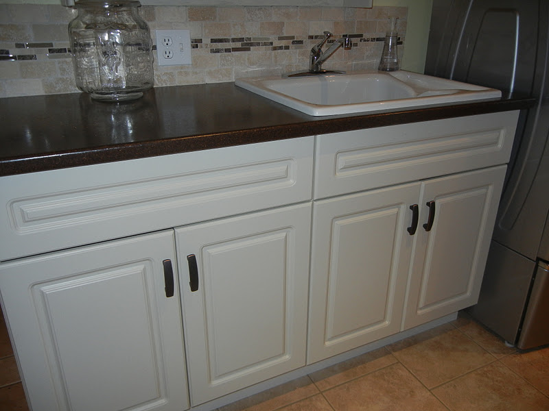 White Cabinets Painted Them In The Same Colour To Match Our Kitchen