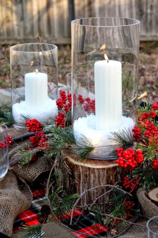 Centros de mesa navide os rusticos parte 3 for Centros navidenos con velas