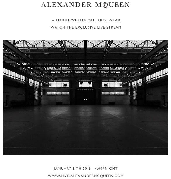 Alexander McQueen Autumn/Winter 2015 Men's