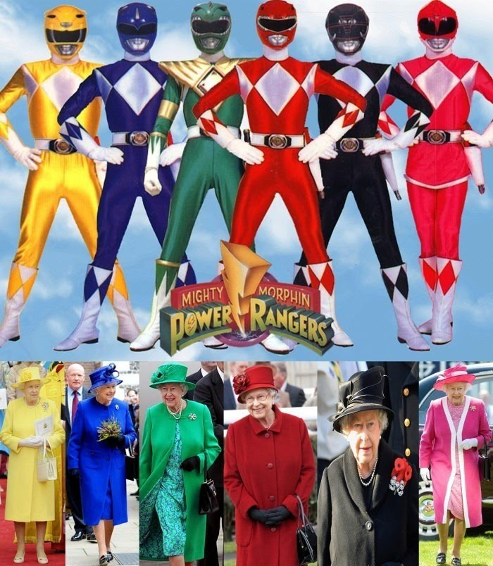 The Real Huge Fan Of Power Rangers - Queen Of United Kingdom