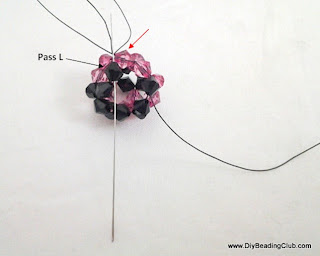 how to make beaded ball tutorial