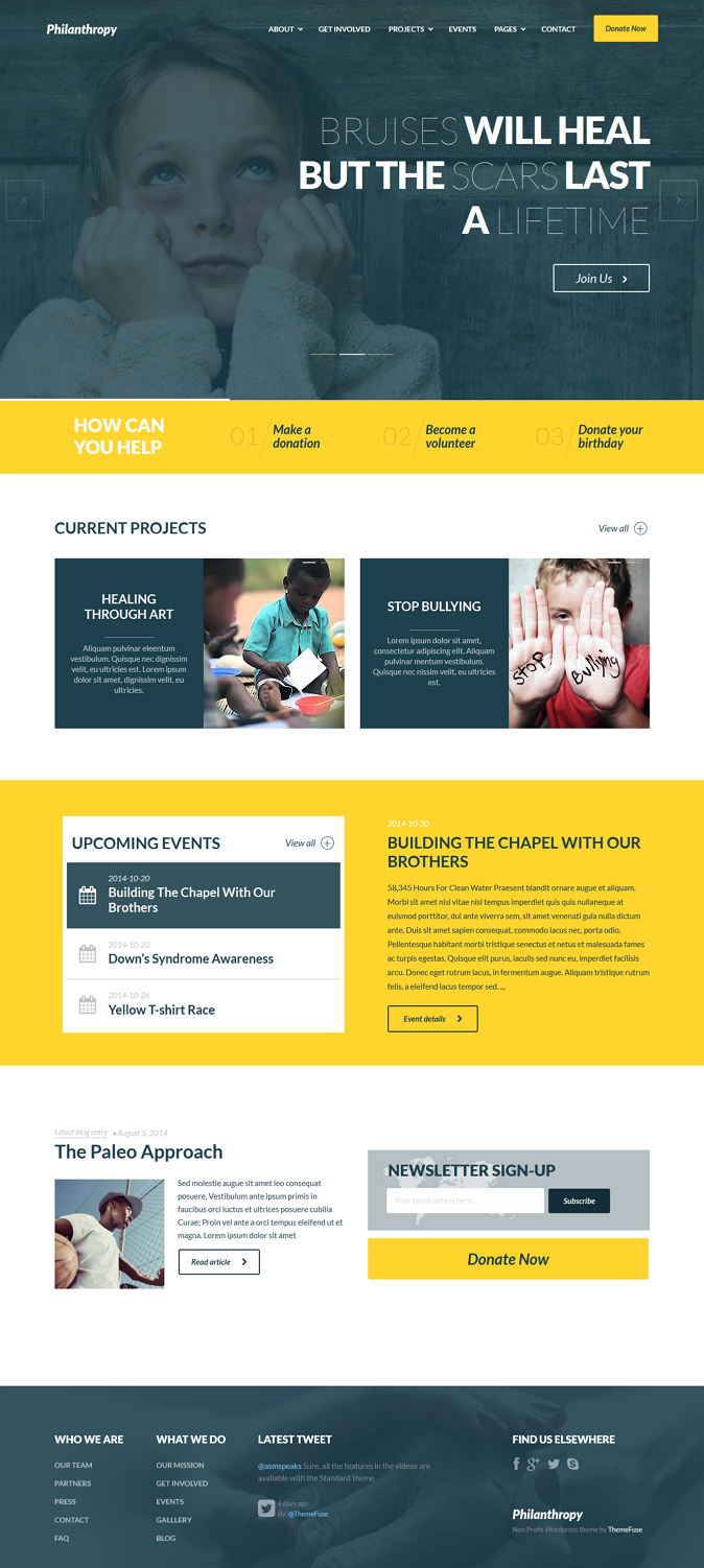 Premium Nonprofit Website Theme