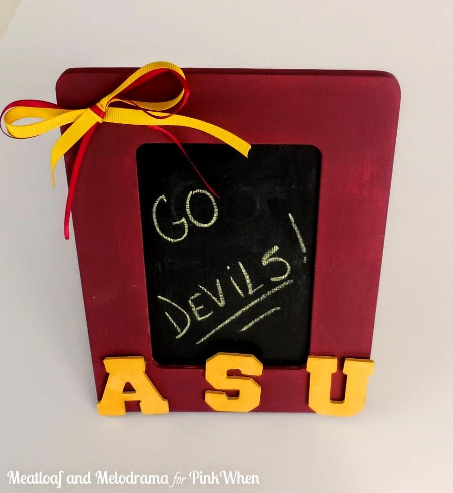 ASU maroon and gold frame