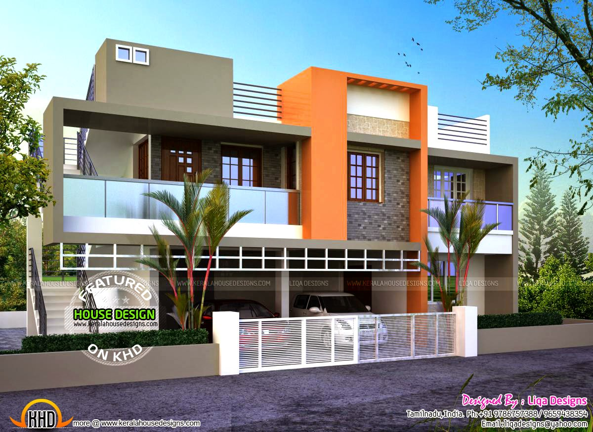 Modern flat roof house kerala home design and floor plans for Kerala home design flat roof elevation