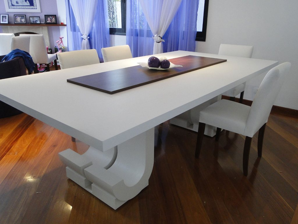 Rackney Móveis Sob Medida e Decoração: Mesa de jantar de 6 lugares #A95E22 1024x768