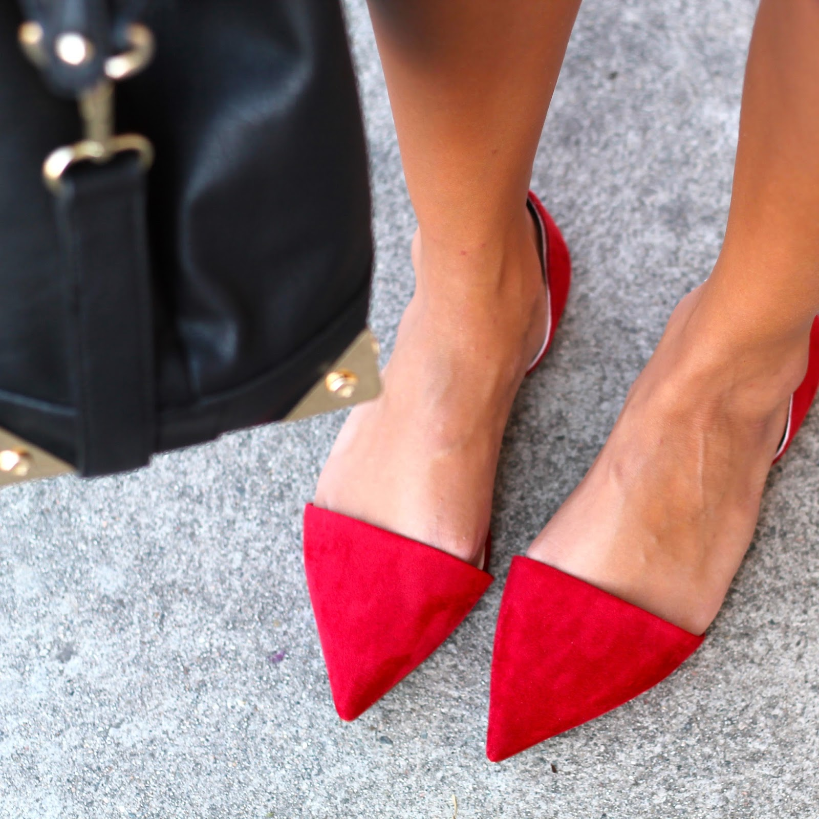 how to wear red flat shoes - photo #49