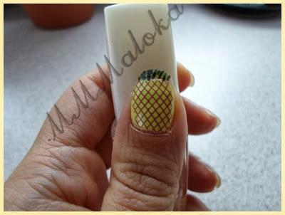 Projekt paznokciowy - tydzień 5 - ANANAS ;-)