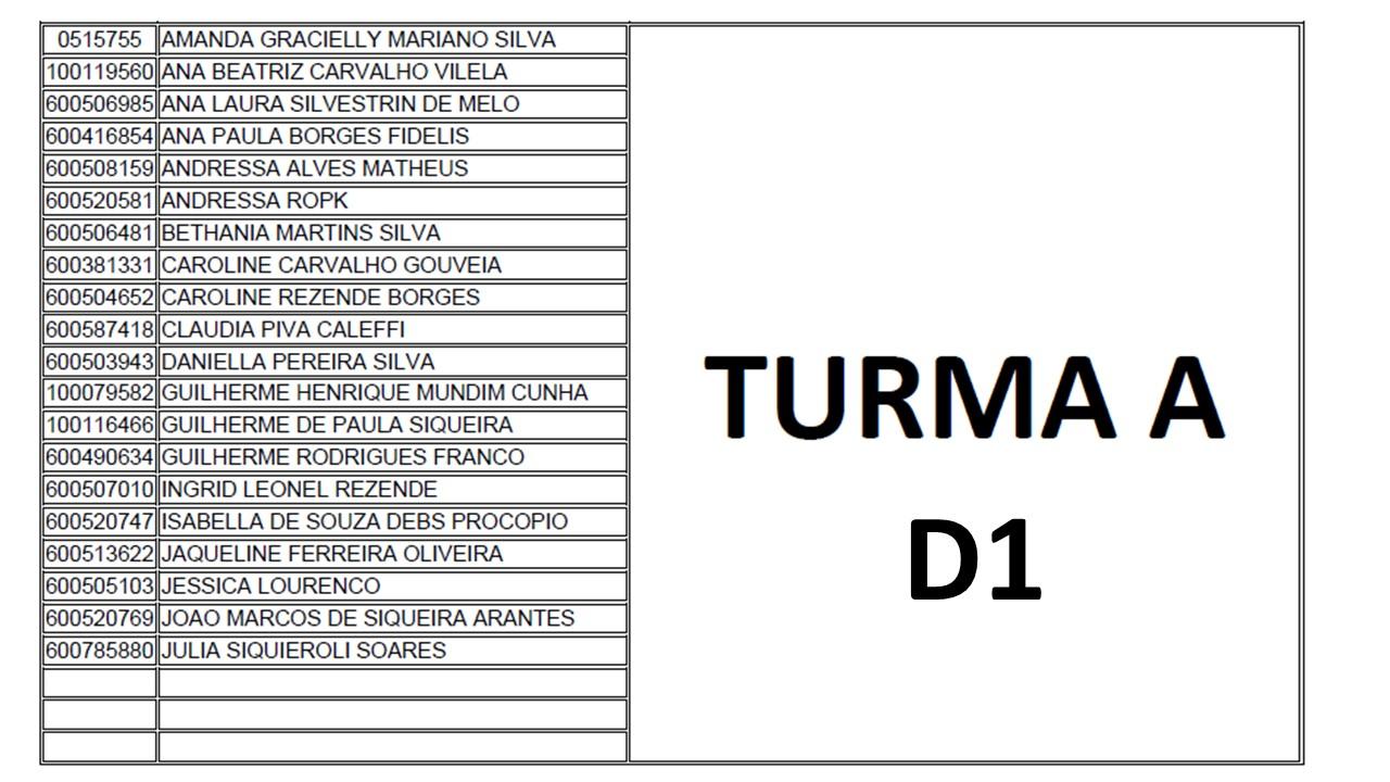 TURMA A D1
