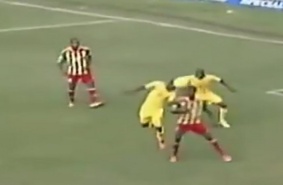 South Africa player Bernard Parker heads in an absolute world class own-goal against Ethiopia