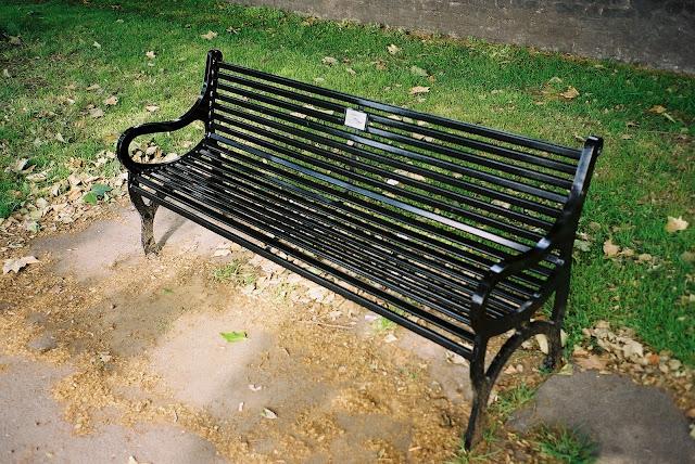 London bench Archbishop's Park Lambeth