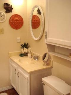 small bathroom redo with sky ceiling