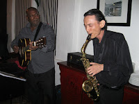 Jason Geh's Jazz Duo performing live at the event