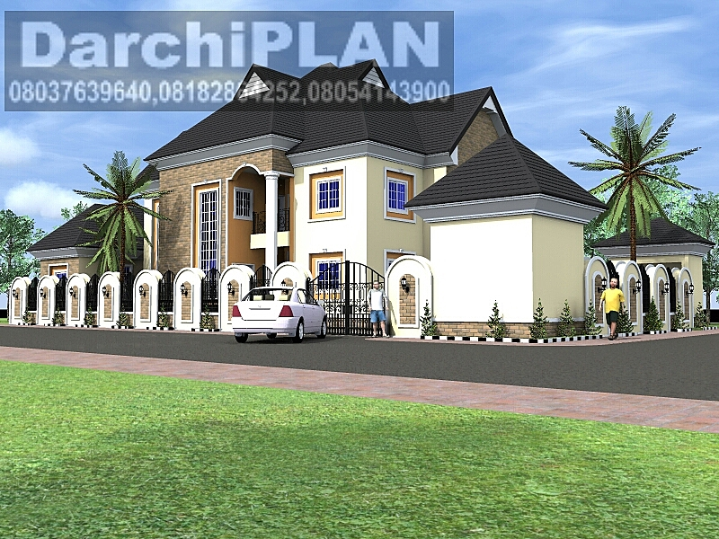 Nigeria building style architectural designs by darchiplan for Nigeria building plans and designs