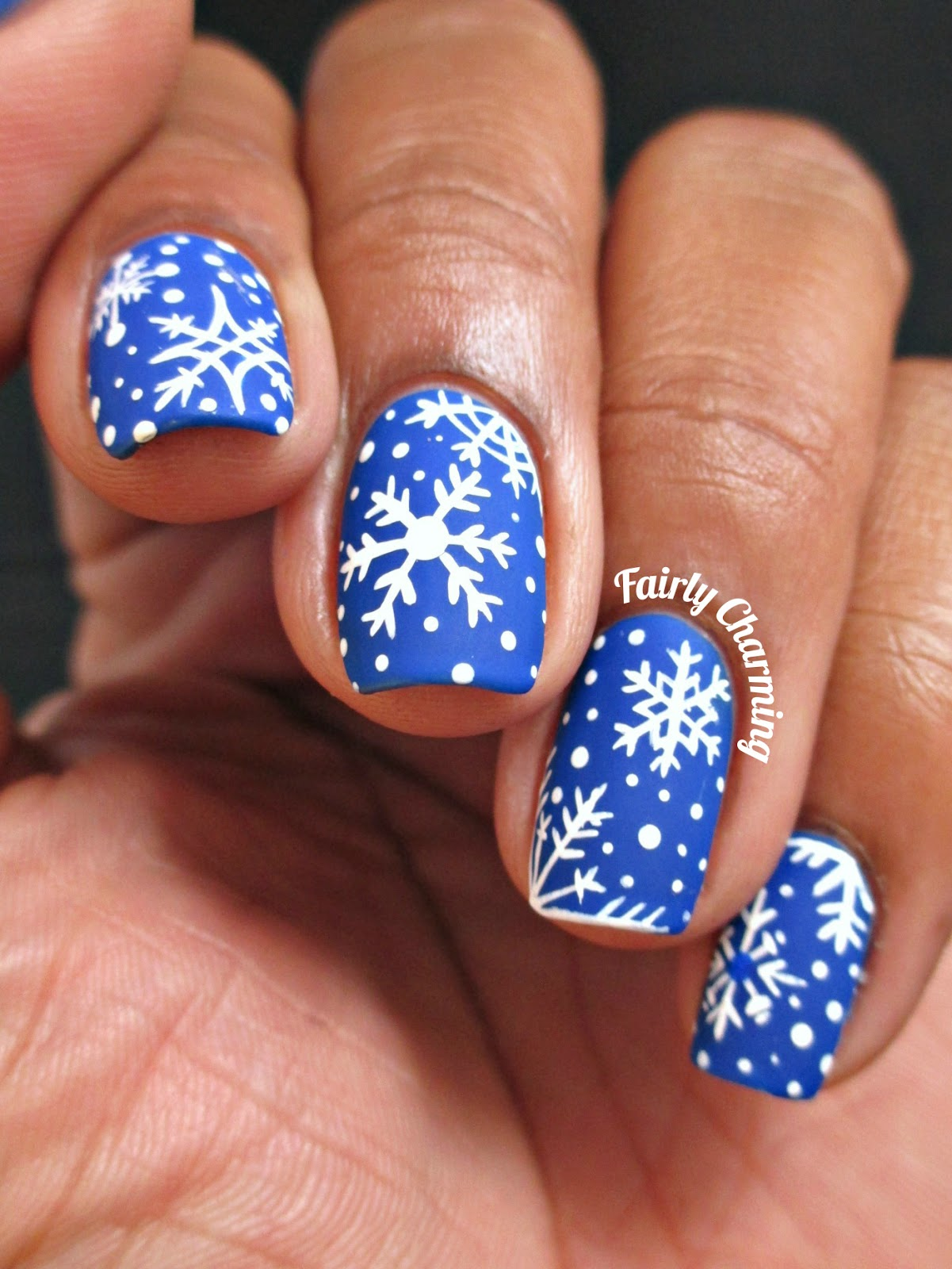 Fairly charming 12 manis of christmas snowflakes 12 manis of christmas snowflakes prinsesfo Image collections
