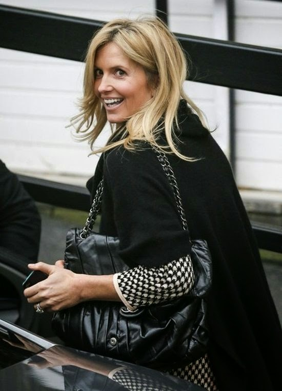 Rod Stewart wife strutting her simply stuff in a dark shirt and trousers as she was snapped to leaving the ITV studios on Monday, December 1, 2014.