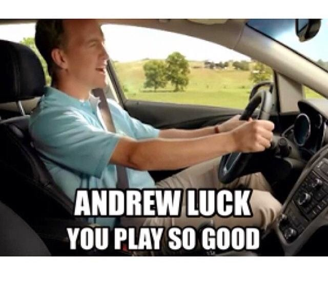 andrew luck you play so good