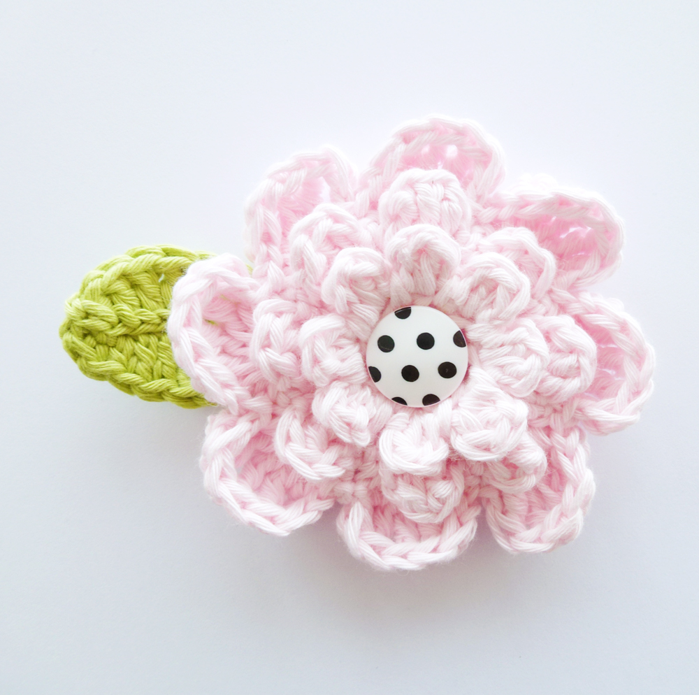 Sweet Crochet Button Flower