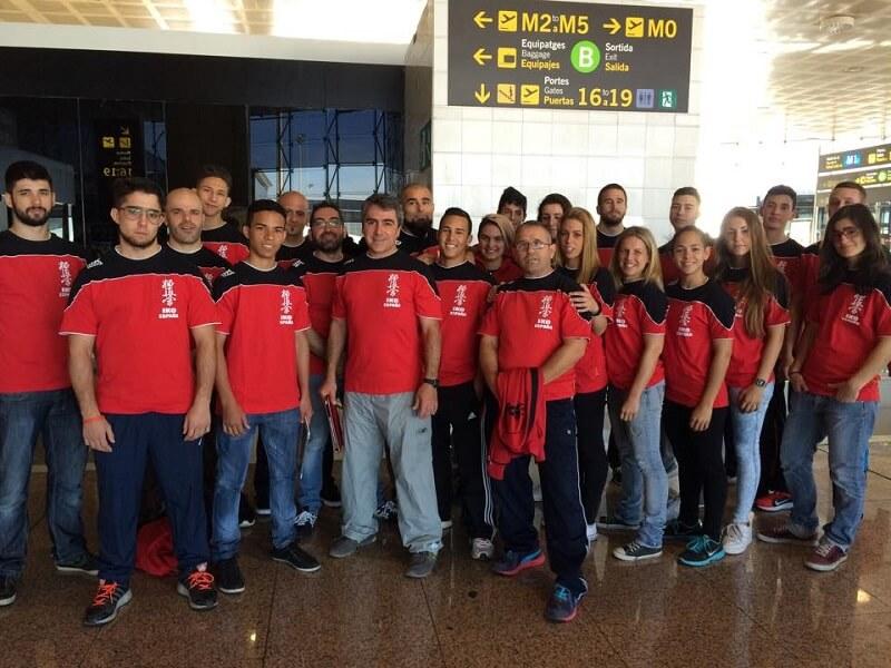 equipo de karate kyokushin en europeo de berlin