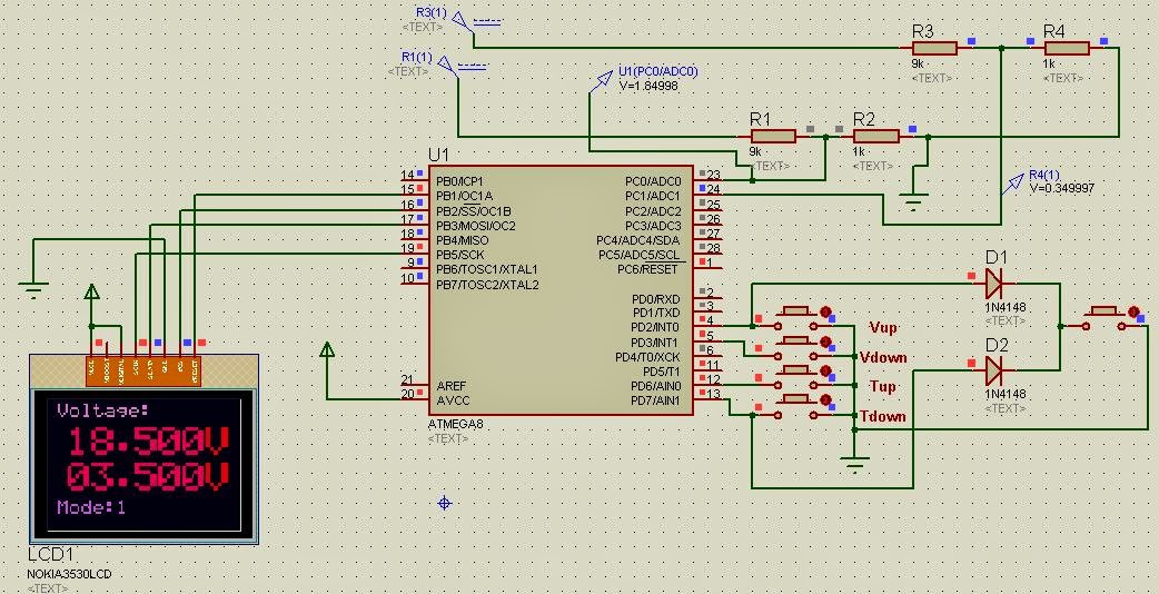Microcontroller based DSO project circuit diagram