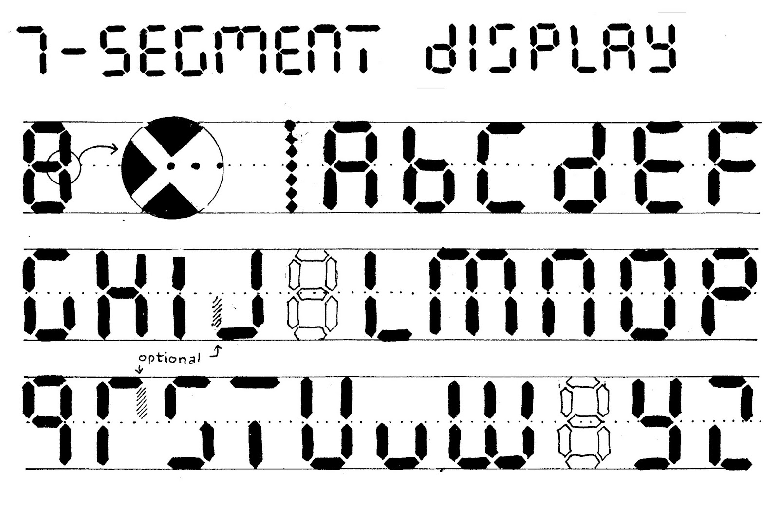 Letters For  Segment Display