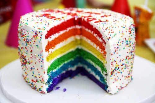 Cara Membuat Rainbow Cake Dengan Gambar | Resep Rainbow Cake