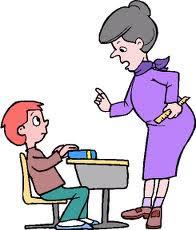 teacher disciplining student