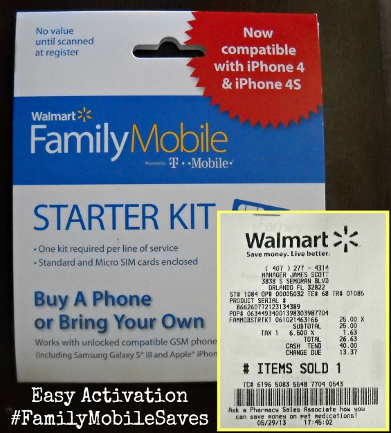 Family Mobile Starter Kit $25