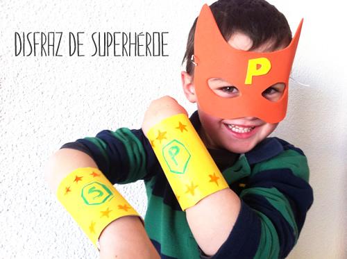 disfraz de superheroe casero