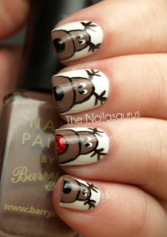 The Bloomin\' Couch: Christmas Nail Art!