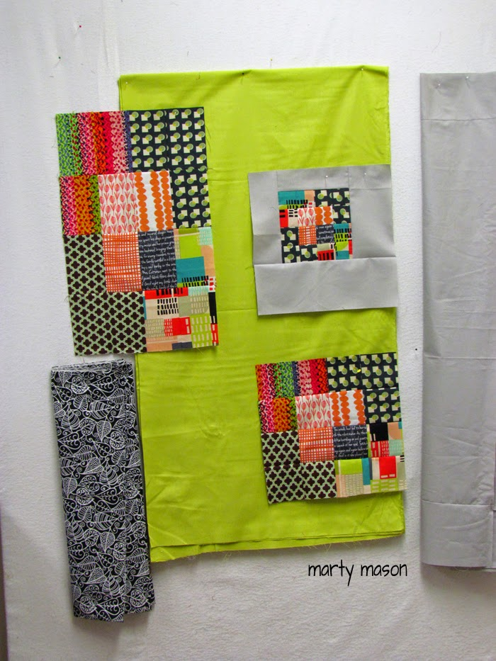 """running with scissors"" a modern quilt designed, pieced and quilted by Marty Mason"