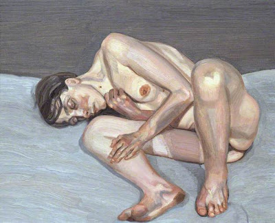 Lucian Freud - small naked portrait, 1973-74