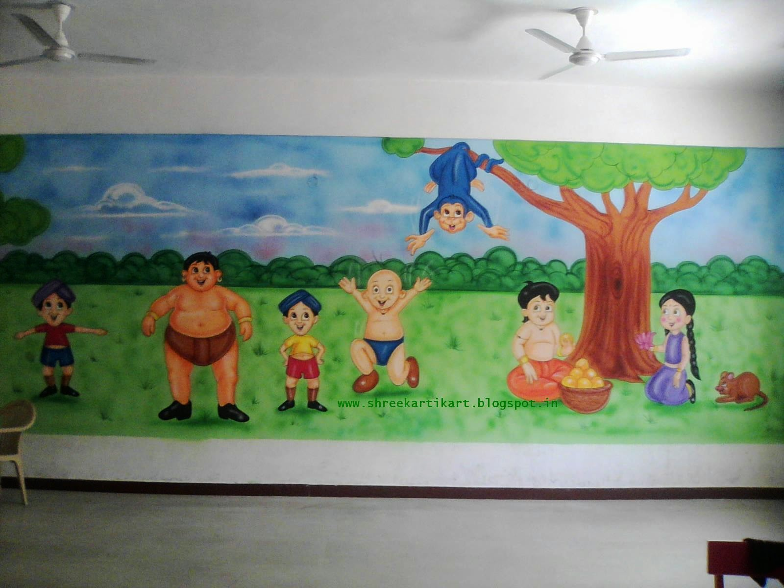 PLAY SCHOOL WALL PAINTING THEME Part 81