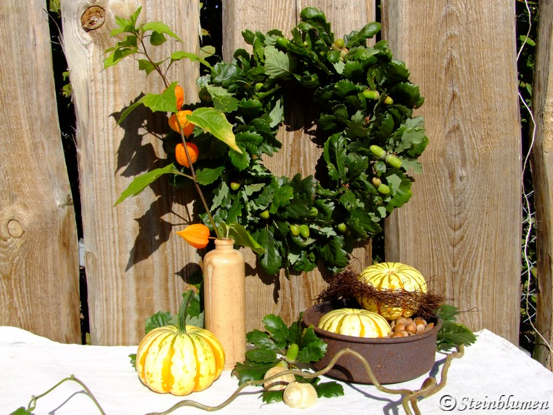 Herbstkranz aus Eichenlaub