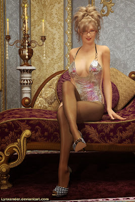 3D pin up girl