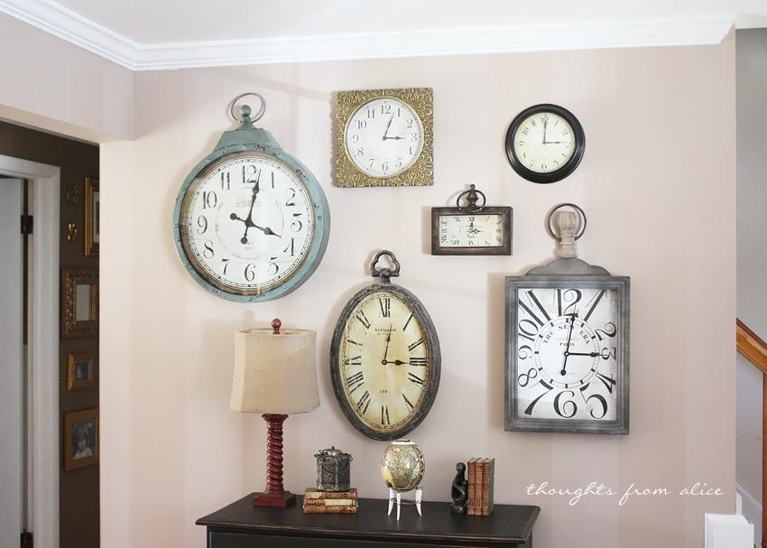 Home Goods Wall Clocks clock gallery wall and an ascp dresser makeover