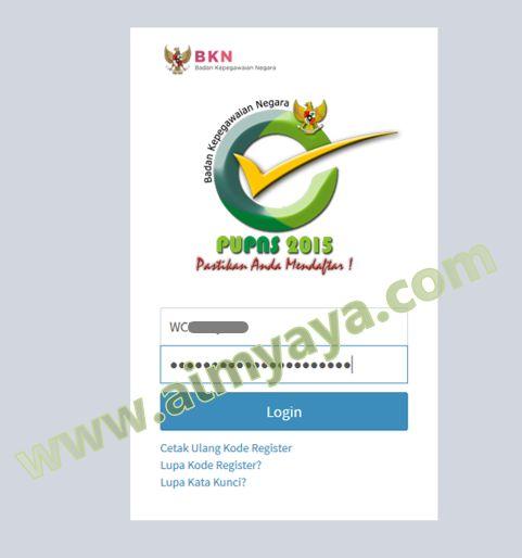 Gambar: Mengisi nomor registrasi dan password