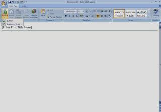 Tampilan Editor MS word