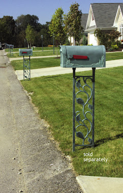 Floral Curbside Mailbox and Decorative Mailbox Post