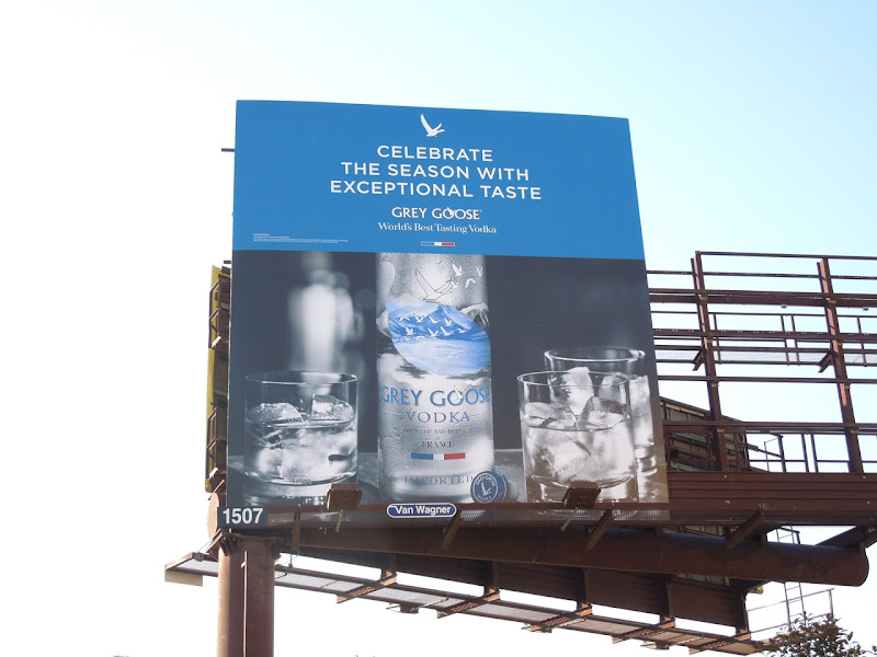 Grey Goose Vodka Celebrate season billboard