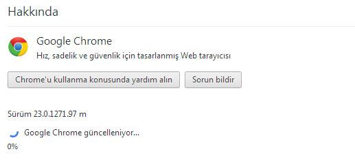 Google Chrome 24 Güncelleme 1