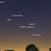 Sao Mộc nằm gần với Mặt Trăng trên bầu trời sau hoàng hôn