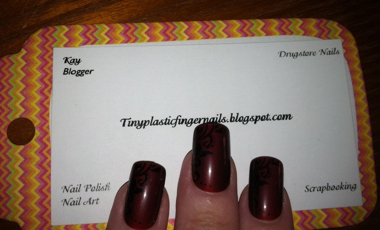 Tiny plastic fingernails: Kiss Halloween Nails \