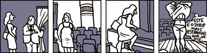 Laerte: Este é o strip mais estranho que já fiz. / This is the strangest strip I've ever done.