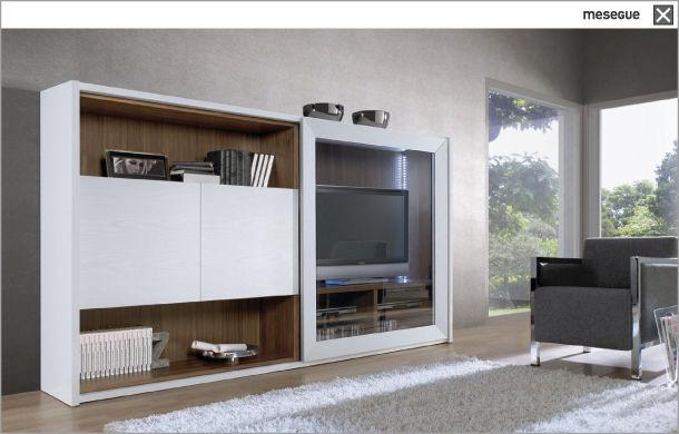 Informaci n de mobiliario muebles de television formas y - Puertas correderas de salon ...