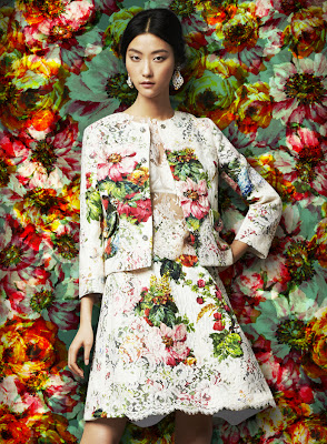 Dolce & Gabbana Fall Winter 2014  Flowers Vs Flowers