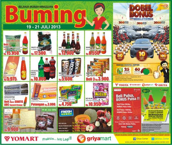 Yomart Weekend Promo Terbaru (Buming) Periode19-21 Juli 2013