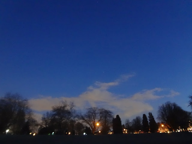 clear blue night sky, vancouver